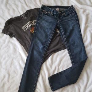 True Religion Skinny Big T Earthworm jeans